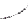 Mihika Multicolored Stone Silver Anklets