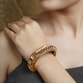 Pratiksha Hinged Opening Kundan Bangle