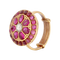 Gold Plated Pink Silver Ring