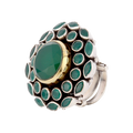 Iva Color Stone Silver Ring