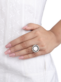 Irene Pearl Coin Silver Ring
