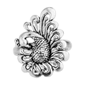 Zyna Silver Peacock Ring