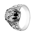 Stylish Silver Lion Face Ring