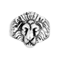 Fabulous Lion Face Silver Ring