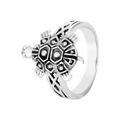 Sophisticated Tortoise Silver Ring