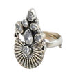 Julia Crown Silver Ring