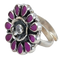 Parinita Color Stone Silver Ring