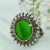 Gracy Green Mirror Silver Ring