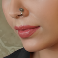 Aisha Clip- On Silver Nose Pin