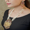Ruhi Gold Plated Kundan Necklace Set With Deity Motif