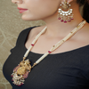 Vidhhi Gold Plated Kundan Necklace Set With Deity Motif