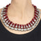 Ipshita Red Thread Tribal Silver Choker
