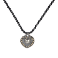 Ivaana Dual Tone Silver Thread Necklace