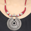 Selina Red Thread Silver Rawa Necklace