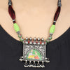 Yana Hand Painted Silver Necklace