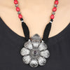 Srishti Tribal Silver Floral Necklace