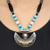 Drishya Moon Design Thread Tribal Silver Necklace