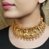 Murari Gold Plated Necklace With Deity Motif