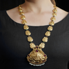 Kalpana Gold Plated Necklace With Deity Motif