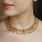 Gatha Gold Plated Pink Studded Necklace