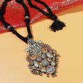 Adhya Silver Pendant Necklace