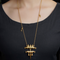 Sachi Gold Plated Pendant Necklace