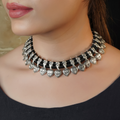 Paras Silver Black Necklace