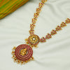 Pink Floral 24k Gold Plated Silver Necklace