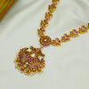 Swagger 24k Gold Plated Pink Floral Silver Necklace