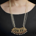 Vadhu Gold Plated Long Bridal Necklace