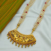 Radiant 24k Gold Plated Necklace With Deity Motif