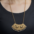 Srishti Gold Plated Necklace With Deity Motif