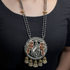 Drishti Dual Tone Necklace With Peacock Motif