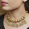 Roohi Gold Plated Kundan Necklace