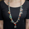 Luna Oxidised Long Beaded Necklace