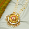 Floral 24k Gold Plated Kundan Ranihaar (Red)