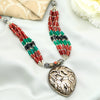 Ananya Beaded Tribal Silver Necklace
