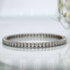 Silver Bangle with Swarovski Zirconia