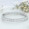Epic Silver Adjustable Bangle with Baguette Cut Swarovski Zirconia