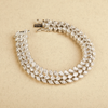 Evelyn Pear & Marquise Three Layer Swarovski Zirconia Bracelet