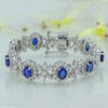 Icy Blue Silver Bracelet with Swarovski Zirconia