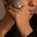 Aanya White Swarovski Zirconia Cocktail Ring