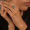 Vanessa Green & White Emerald Cut Swarovski Zirconia Ring