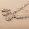 Ira Yellow & White Mix-Shaped Swarovski Zirconia Necklace Set
