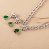 Kyra Green & White Mix-Shaped Swarovski Zirconia Necklace Set