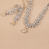 Gloria Yellow & White Fancy Shaped Swarovski Zirconia Necklace Set
