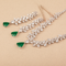 Ananya Green & White Necklace Set with Swarovski Zirconia