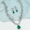 Gracy Green Silver Necklace Set with Swarovski Zirconia