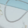 Isha Silver Necklace with Swarovski Zirconia