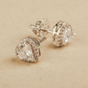Kia Classy Heart Design Swarovski Zirconia Stud Earrings